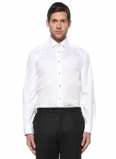 Eton Eton  Modern Yaka Gömlek 101612212 Beyaz